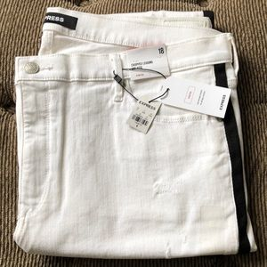 Express cropped leggings mid rise stretch jeans 18